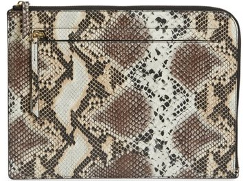 Nordstrom zip top leather pouch   40plusstyle.com
