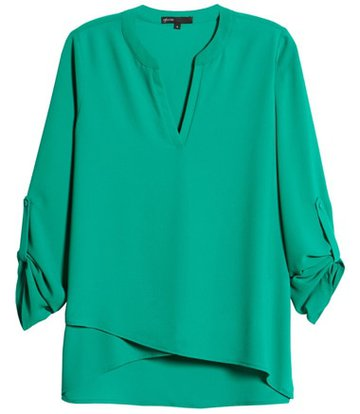 Gibson cross front tunic blouse | 40plusstyle.com