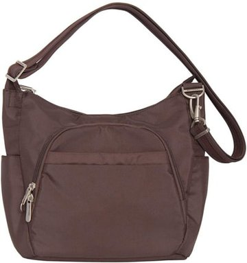 Best travel purses - Travelon anti-theft crossbody bucket bag | 40plusstyle.com
