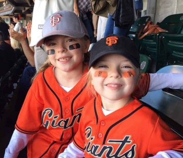 These two are the biggest SF Giants fan around! Softball girls at heart.