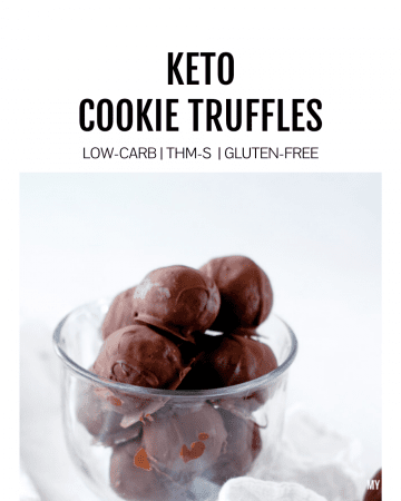 Featured image for keto cookie truffles