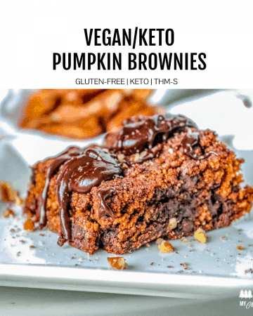 vegan pumpkin brownies