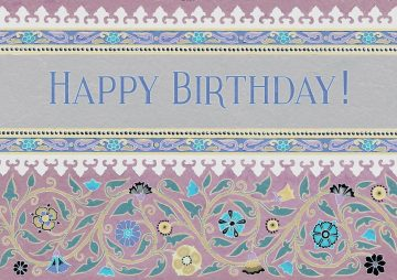 Bdy616 Happy Birthday Jewish Greeting Card by Mickie Caspi