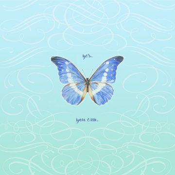 Personalized Bat Mitzvah Butterfly by Mickie Caspi Yes You Can