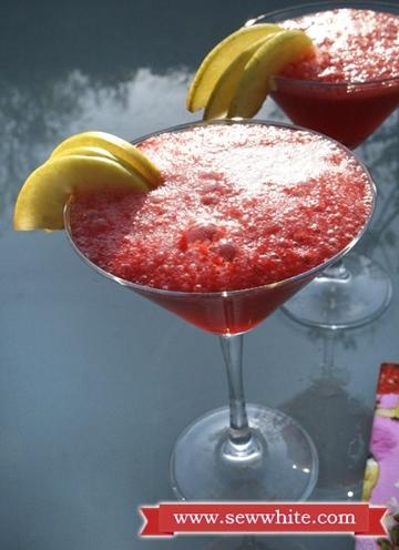 Sew White raspberry prosecco cocktails 5