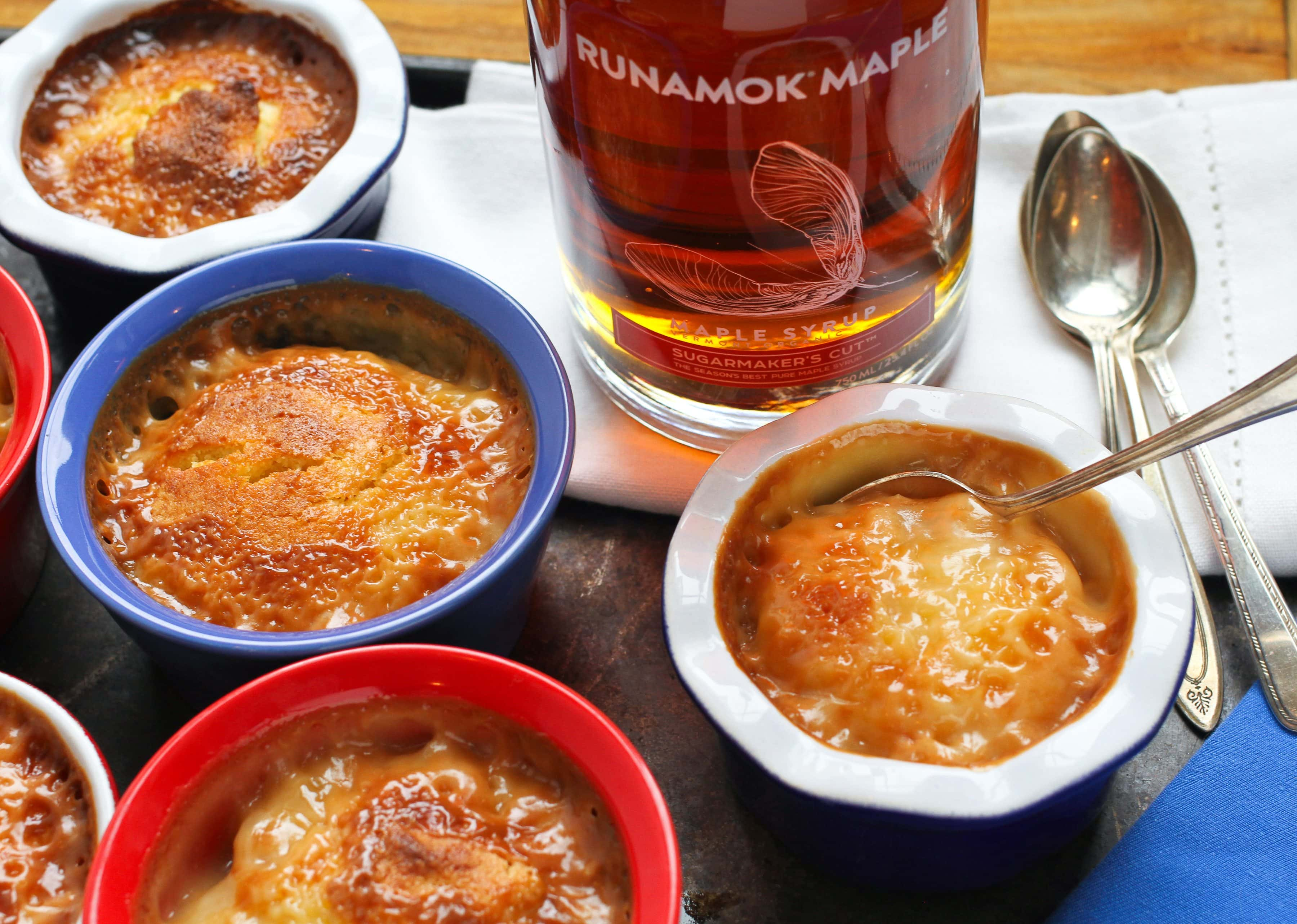 Pudding chomeur with Runamok sugarmaker's cut maple syrup