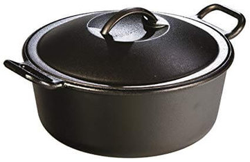 7. Lodge Pro-Logic 4 Quart Cast Iron Dutch Oven