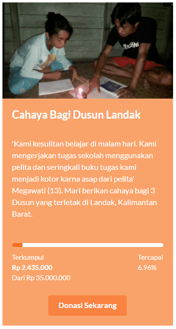 Cahaya Bagi Dusun Landak