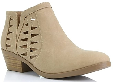 DailyShoes western cowboy bootie | 40plusstyle.com