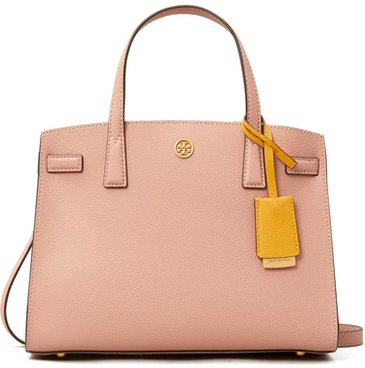 Tory Burch leather satchel | 40plusstyle.com