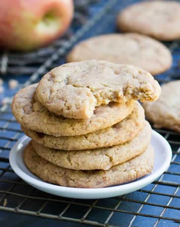 Chewy Toffee Apple Cookies
