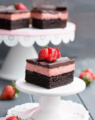 Strawberry Cheesecake Truffle Brownies