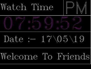 Digital Clock With current time & Date