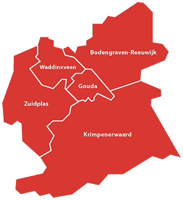 Kaart NSDMH gemeenten
