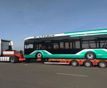 Перевозка автобуса на выставку Busworld Europe Brussels 2019