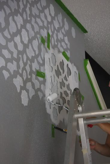 tips for how to paint a stencil on a wall