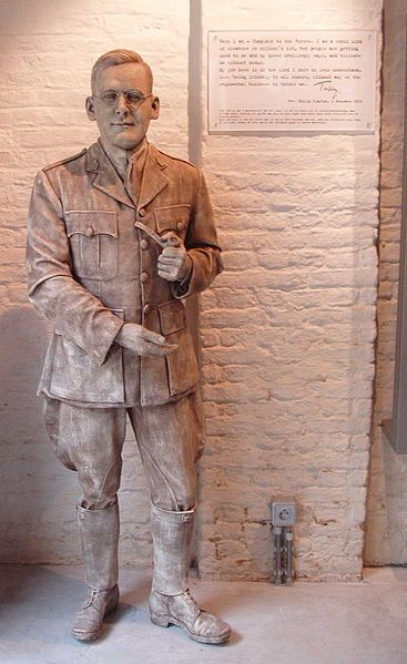 Picture: Statue of Tubby Claytonfounder of Talbot House at Poperinge by Filibertus. Sourced from Wikimedia and reproduced under a Creative Commons Attribution-Share Alike 3.0 Unported license.
