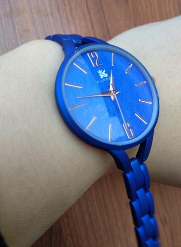 zegarek damski matowy niebieski