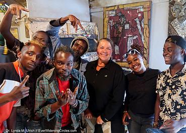 Image: Dr. Lynda with Artists in Kibera, the largest slum in Kenya