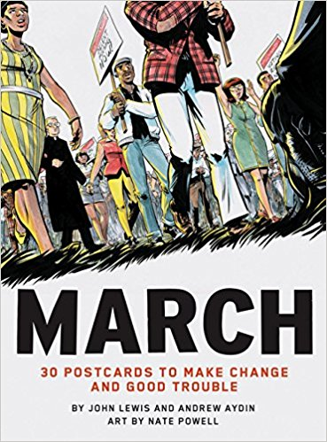 March- 30 Postcards to Make Change and Good Trouble