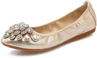 Flat party shoes - Meeshine foldable ballet flat | 40plusstyle.com
