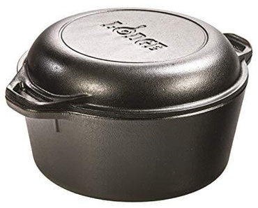 4. Lodge L8DD3 Cast Iron Dutch Oven,
