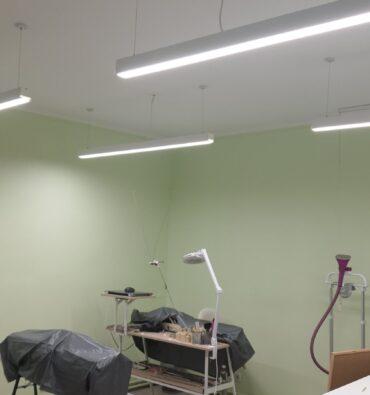 Освещение швейной мастерской