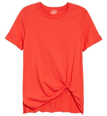 Zella tuck front t-shirt | 40plusstyle.com