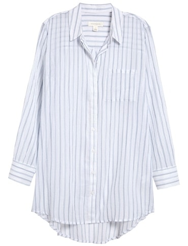 Summer essentials - Treasure & Bond stripe woven tunic | 40plusstyle.com