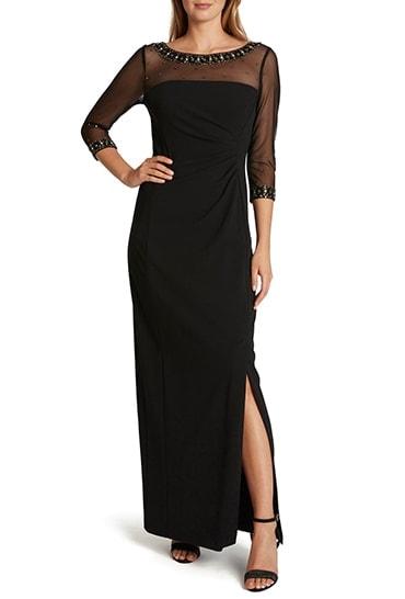 Black formal dress | 40plusstyle.com