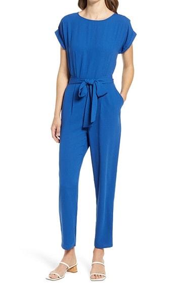 Halogen Short Sleeve Jumpsuit   40plusstyle.com