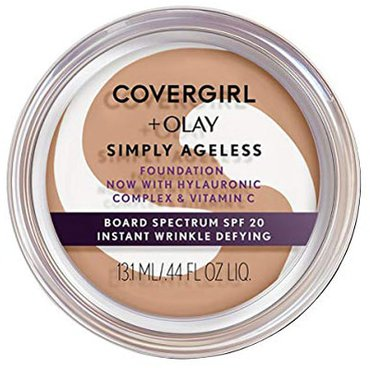 Make up for older women - Covergirl & Olay Simply Ageless Instant Wrinkle-Defying Foundation | 40plusstyle.com