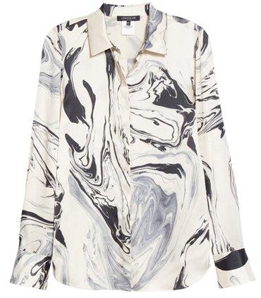 Lafayette 148 New York silk blouse   40plusstyle.com