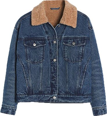 Black Friday sales - Anthropologie Pilcro sherpa-trimmed denim jacket | 40plusstyle.com