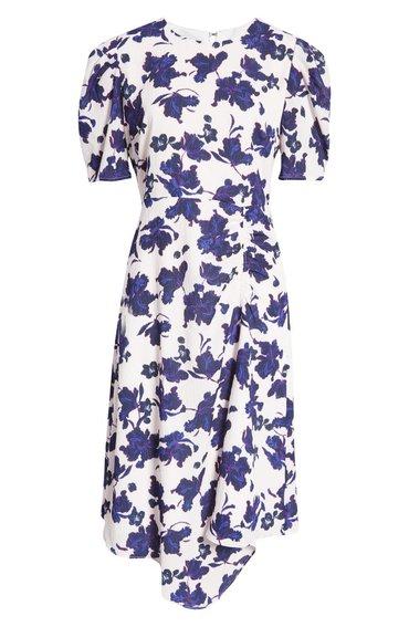 Vestido midi asimétrico halógeno    40plusstyle.com