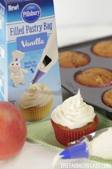 These easy Apple Spice Cupcakes are full of sweet apples and lots of spice. They are the perfect fall treat.