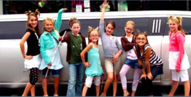Legendary Birthday Limo Kids Pic