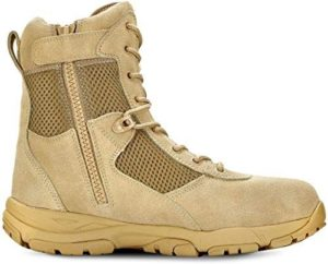 Maelstrom Men's Military Tactical Duty Work Boot with Zipper