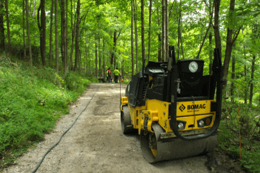 compacting soil process - long lasting pavement
