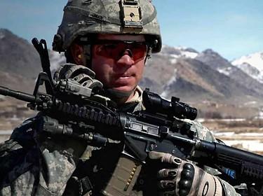 Military Soldier With Gun - Defective Combat Earplugs