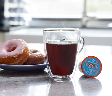 Donut Shop Coffee Product Photography