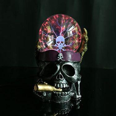 Halloween-Ornamentos-Decoración-Escritorio-Decorativa-calaveras-fumando