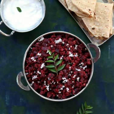 Beetroot Thoran (Kerala Style Beet Stir Fry with Coconut)