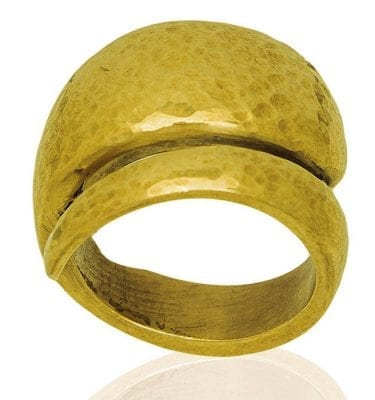 Vesna Hammered brass ring