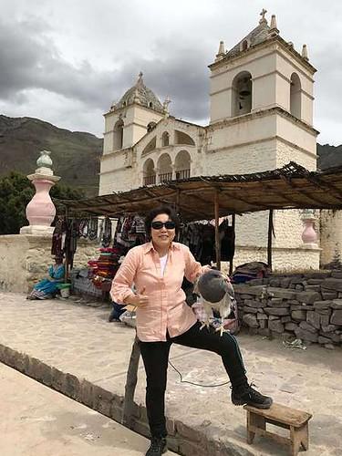 ペルーのマカ村にて