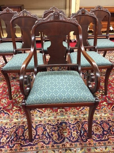 value antique victorian dining chairs