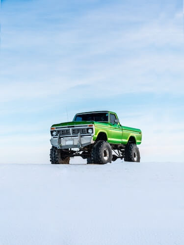 Bug out truck in snow