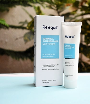 Review of Re'equil ceramide moisturizer - packaging