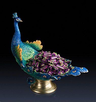 ZWC Premium brass peacock fruit plate