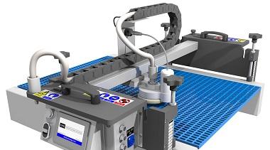Automatisme et robot de nettoyage vapeur pour convoyeur industriel